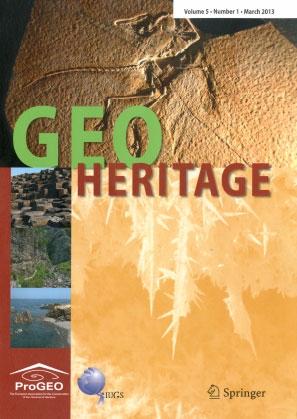 Photo 1. Couverture de la revue Geoheritage editée par Springer depuis 2009.