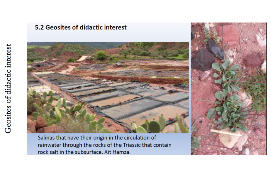 Examples of three types of geosites : Geosites of didactic interest ©GeoparkH2020