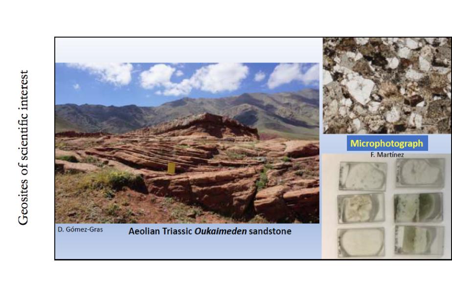 Examples of three types of geosites : Geosites of scientific interest ©GeoparkH2020