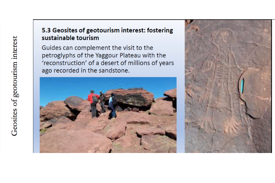 Examples of three types of geosites : Geosites of geotourism interest ©GeoparkH2020