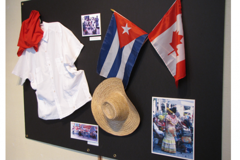 2 - Dispositif du Musée de l'immigration évoquant les migrations cubaines, Quai 21, Halifax, Canada, 2011, ©Fabien Van Geert