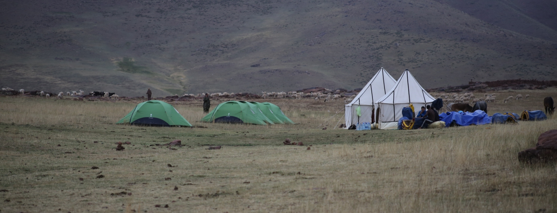 Campement sur le plateau du Yagour, 19/07/2015 ©S.Bourjouf