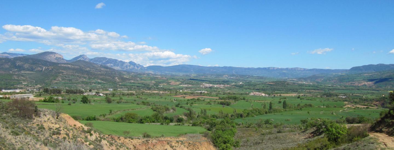 Vue du territoire du géoparc du bassin de Tremp-Montsec ©Fabien Van Geert