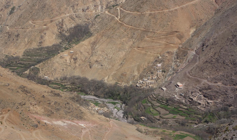 Vallee de Ghyghaya (massif-toubkal) 03/2014 © Saïd Boujrouf